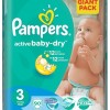 Scutece Pampers Giant Mic Nr 3 4-9Kg (set 90)